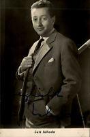Autogrammkarte Autograph Film handsigniert LUTZ JAHODA ~1955 Autogramm Original