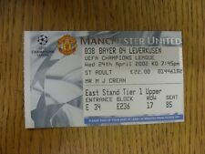 24/04/2002 Ticket: Manchester United v Bayer Leverkusen [UEFA Champions League]