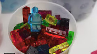 Flexible Silicone Lego Block ice mold & chocolate mold Jelly mould Jello