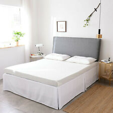 King Microfiber Bed Skirt New White