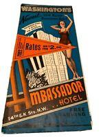 1960s Pinup Girl Ambassador Hotel Washington DC vintage travel brochure Pamphlet
