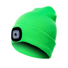 Women Men Winter Beanie Hat With LED Light Outdoor Camping Warm Kintted Hats