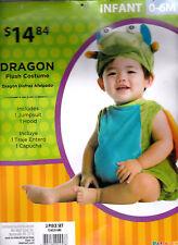 Plush Pumpkin Halloween Costume - Infant 0-6 MOS - Complete Jumpsuit & Cap - New