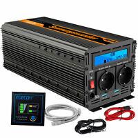 Inverter 3000W 6000W DC 12V AC 220V 230V Convertitore Trasformatore USB EDECOA