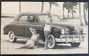1949 Ypsilanti Mi USA RPPC Real picture Postcard Cover Frazer Manhattan Car