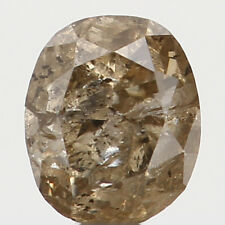 Natural Loose Diamond Brown Color Oval I1 Clarity 3.40X2.85X2.30MM 0.18 Ct N7334