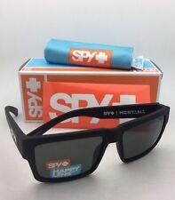 New SPY OPTIC Sunglasses MONTANA Soft Matte Black Frame w/ Happy Grey-Green Lens