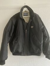 BLACK BOMBER JACKET M CHEST 48 NICKELSON SPORT  PADDED FOOTBALL CYCLE CAR CASUAL