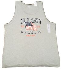 Fourth Of July tank top men's size L USA gray New Independence Day large shirt