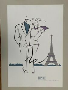 TY WILSON 'PARIS BLUE,1989' RARE 1989 ART PRINT, LAST ONE!!
