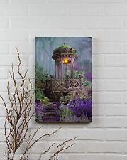 Garden Gazebo Radiance Lighted Canvas 72353 NEW battery light wall art