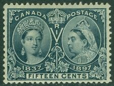 EDW1949SELL : CANADA 1897 Scott #58 VF, Mint Original Gum. Very Fresh. Cat $260