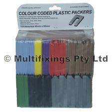1000pcs - 40mm x 90mm Mixed Pack Plastic Horseshoe Window Packers