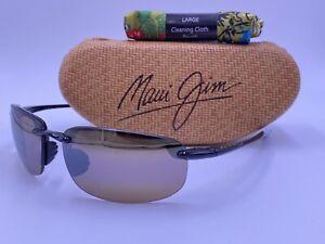 MAUI JIM MJ407-02 HO'OKIPA Black; HCL® Bronze POLARIZED lens AUTHENTIC Japan