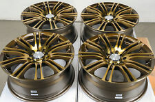 16 5x100 5x114.3 Bronze Fits Subaru Impreza Legacy Wrx Sentry Tiburon Mr2 Wheels