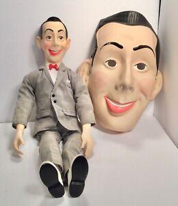 Vintage Pee Wee Herman Doll And Mask