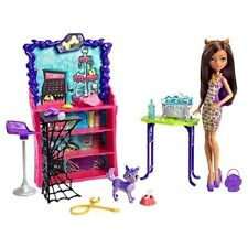 Monster High Pet Salon Doll Activity Set Collectible Girls Toy Grooming Playset