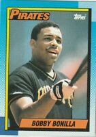 FREE SHIPPING-MINT-1990 Topps #273 Bobby Bonilla Pirates PLUS BONUS CARDS