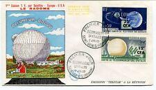 1963 Pleumeur Bodou Liaison TV Satellite Europe USA Le Radome Premier Jour SPACE
