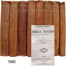 Théâtre complet Emile Augier 1892 cigüe méprises de l'amour discours Académie