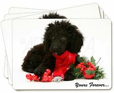 Miniature Poodle Dog 'Yours Forever' Picture Placemats in Gift Box, AD-POD3yP