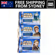 1 X Star Wars Attack of The Clones Topps Trading Cards Booster Pack