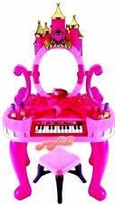 GIRLS DISNEY Large Pink Piano Dressing Table Play Set Mirror & Stool TOY KIDS