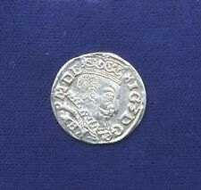 POLAND (RIGA) SIGISMUND III 1597  3 GROSCHEN (GROSSUS)(TROJAK) COIN, WASA LUBIN