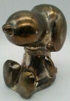 Pewter SNOOPY Pilot DOG HOUSE #1 Ace Metal Charlie Brown Peanuts Metal Figurine