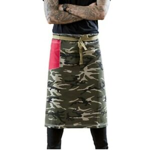 Sharp Chef Outfitter Camouflage Bar Waist Apron with Red Pocket