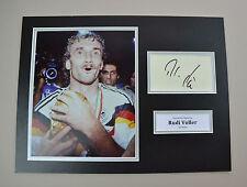 Rudi Voller Signed 16x12 Photo Autograph Display Germany Memorabilia + COA