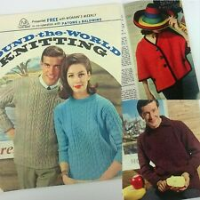 Patons Knitting Pattern Booklet Men & Women Jumpers Womans Weekly 1960s Vintage