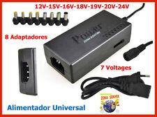 CARGADOR PORTATIL UNIVERSAL multivoltaje Y multiconector 96W  Max 5A
