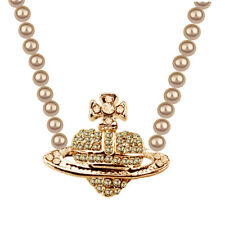 Champagne Gold Pearl Silver Bridal Orb Galaxy Cross Heart Pendant Necklace N576G