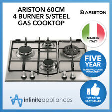 Ariston 60cm Stainless Steel 4 Burner Gas Cooktop Hob 5 Year Warranty PC640 NTX