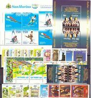1994 San Marino Annata Completa Nuovi Come Unificato 31 Valori + 2 Bf Integri