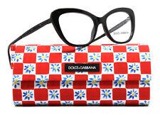 New Dolce and Gabbana Eyeglasses Women DG 3275B  Black 2525 DG3275B 52mm