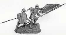 Tin toy soldier Warriors of the Teutonic Order. Metall sculpture 54 mm