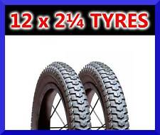 "2x 12.5"" Inch 12.5 x 2.25 TYRES for Kids Childs Bikes RRP £15"