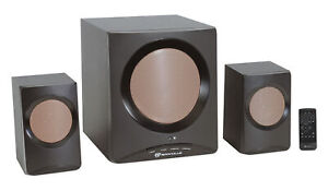 Rockville ROCK MEDIA Home/Computer Speakers+Subwoofer/Bluetooth/USB/SD/FM+Remote