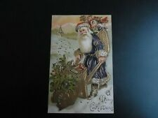 Antique Santa Claus Postcard With Purple Suit