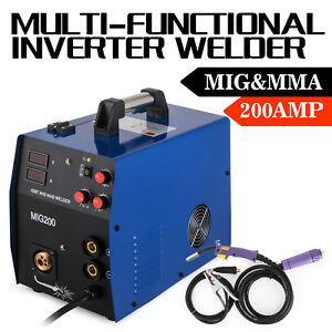 200 Amp MIG IGBT Welder, Gas/Gasless Inverter Welding Machine MIG MMA 3-in-1