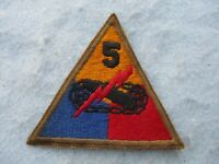 WWII US Army Patch 5th Armor Division Victory Normandy Europe WW2