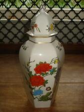 "Aynsley English Bone China Ginger Jar Famille Rose 17th C. Repro Ching 9 3/4"""