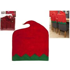 2 x Felt Elf Chair Back Covers Dining Room Party Christmas Stretch Seat Kitchen