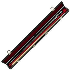 Black Wave Designer 2 Piece Pool Stick with Case 58 Inch Billiard Cue