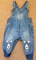 Boys Next Blue Denim Dungaree Trousers Age 3-6 Months B66