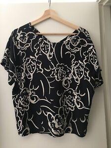 Gorman X Claire Johnson Lovelies Silk Top Size 10