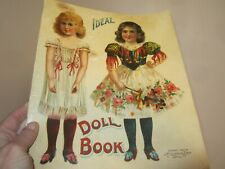 1907 ideal doll book uncut paper doll dresses 113 years old