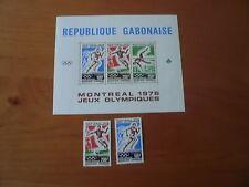 Gabun Olympia 1976 Montreal  Innsbruck Mi. 583-584 , Bl. 29 und 602,603 , Bl.30